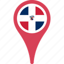 country, dominican, flag, flags, map, pin, republic, the icon