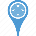 country, federated, flag, map, micronesia, of, states, the icon