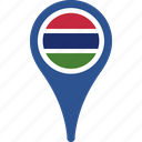 country, flag, gambia, pin, the icon