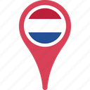 flag, map, netherlands, netherlands flag pin, pin, the icon