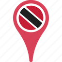 and, country, flag, location, map, pin, tobago, trinidad icon