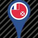 and, flag, futuna, wallis, country, map, pin