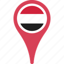flag, pin, yemen, yemenflagpin icon