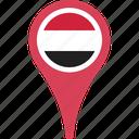 flag, yemen, pin, yemenflagpin icon