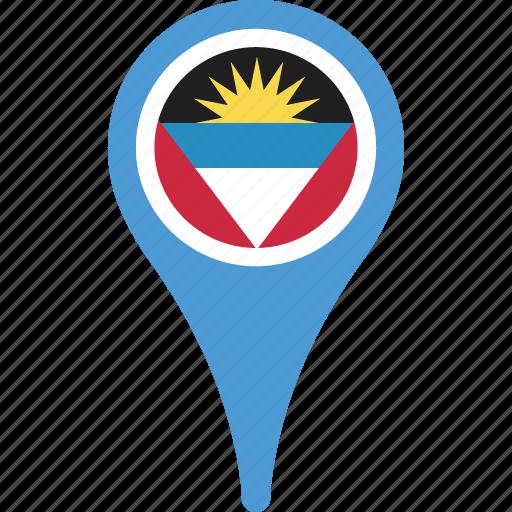 and, antigua, barbuda, barbuda flag pin, flag icon