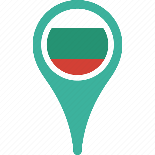 bulgaria, country, flag, flags, map, pin icon