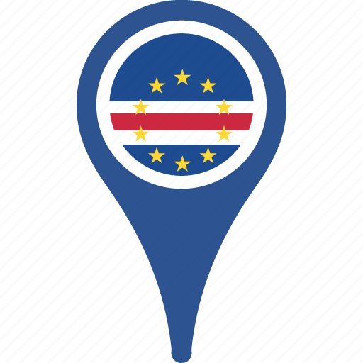 cape, country, flag, location, map, navigation, verde icon