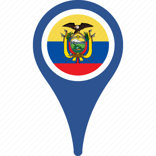 country, ecuador, flag, flags, map, pin icon