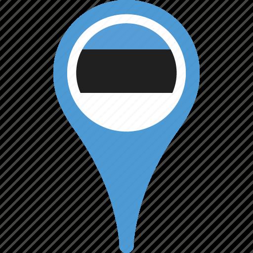 country, estonia, flag, flags, map, pin icon