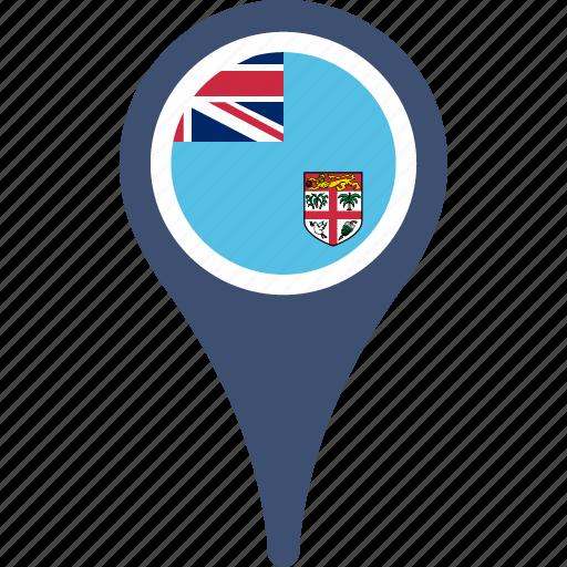 fiji, fijiflagpin, flag, map, mappin, pin icon