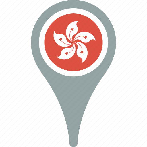 country, flag, flags, hong, kong, map icon