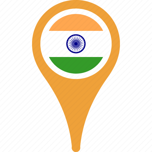 country, flag, flags, india, map, national icon