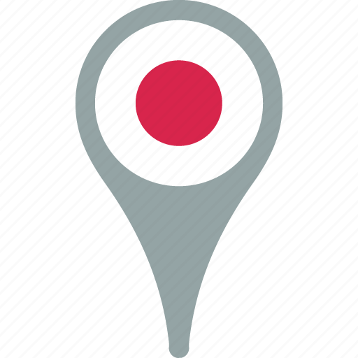 flag, flags, japan, japan flag pin, map, pin icon