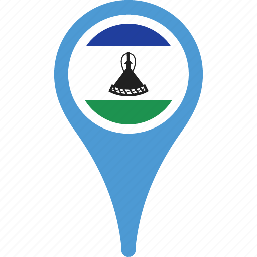 country, flag, lesotho, location, map, pin icon