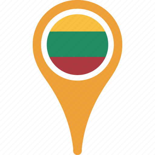 country, flag, flags, lithuania, map icon