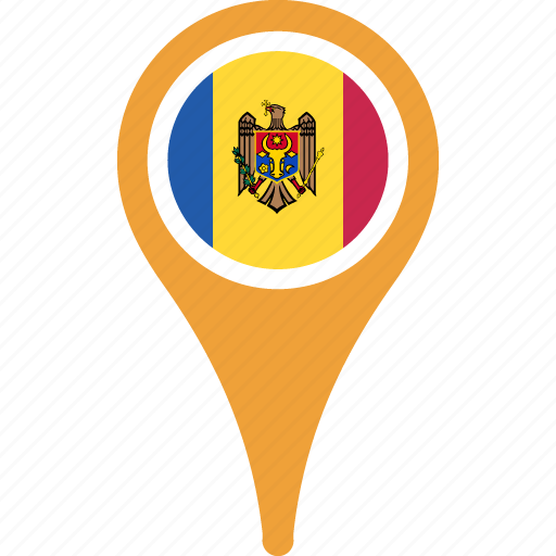country, flag, flags, map, moldova icon