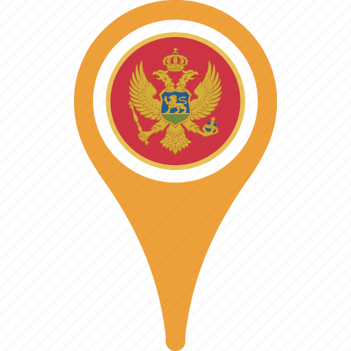 country, flag, flags, map, montenegro icon