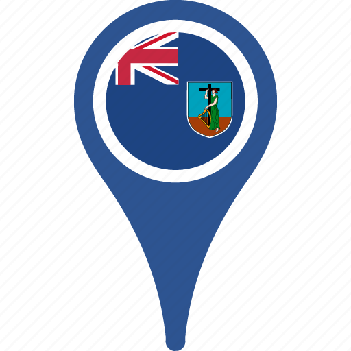 country, flag, map, montserrat, pin icon