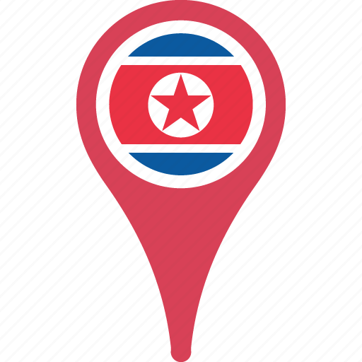 country, flag, korea, map, national, north icon