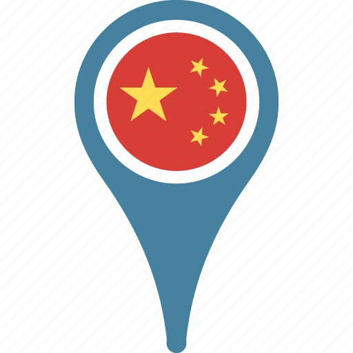 china, china flag pin, flag, of, peoples, republic icon