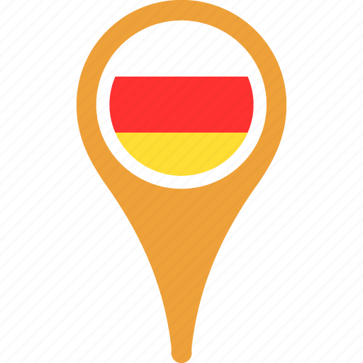 country, flag, flags, map, ossetia, pin, south icon