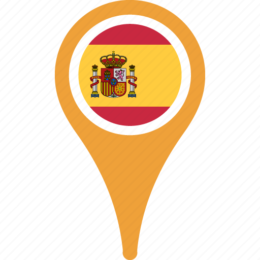 ... map, pin, spain icon