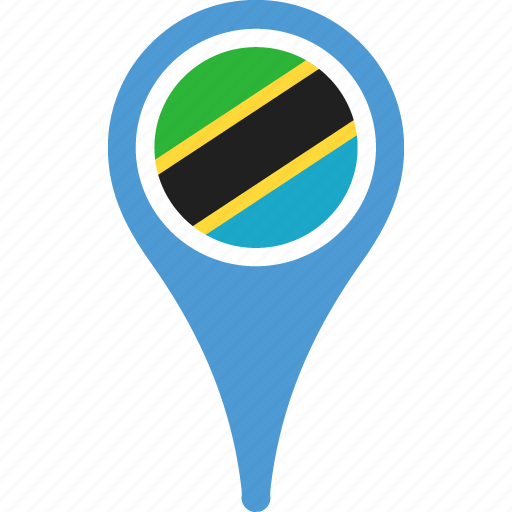 country, flag, flags, location, pin, tanzania icon