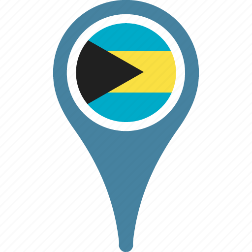 bahamas, country, flag, map, pin, the icon