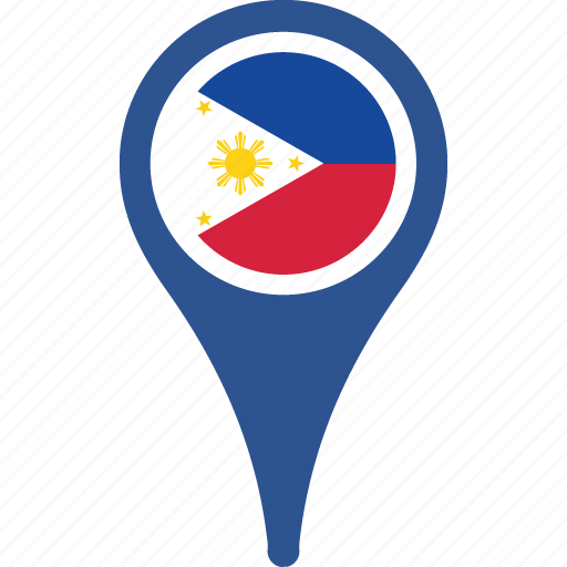 country, flag, map, philippinesa, pin, the icon