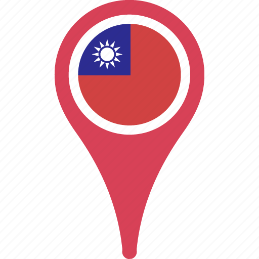 china, country, flag, map, of, pin, republic, the icon