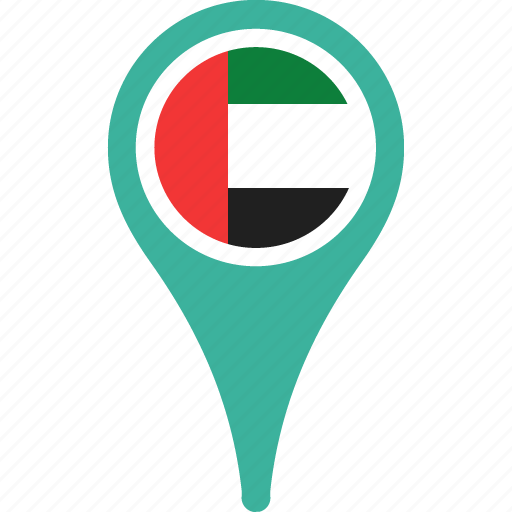arab, country, emirates, flag, flags, pin, the, united icon