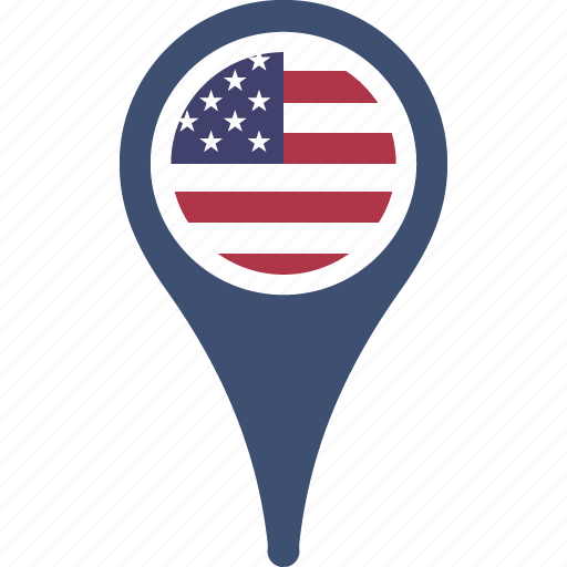 Country Flag Map Pin States The United Icon Icon Search Engine - Us map icon