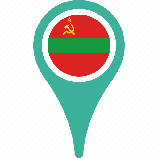 flag, map, marker, pin, transnistria icon