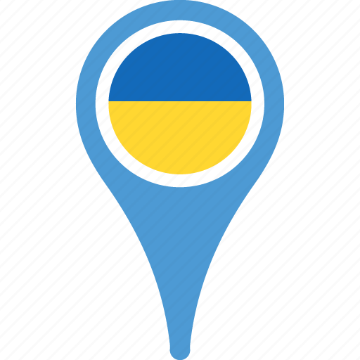 country, flag, flags, location, map, pin, ukraine icon