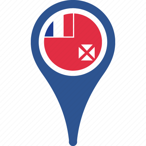 and, country, flag, futuna, map, pin, wallis icon