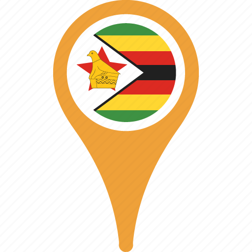country, flag, flags, map, pin, zimbabwe icon