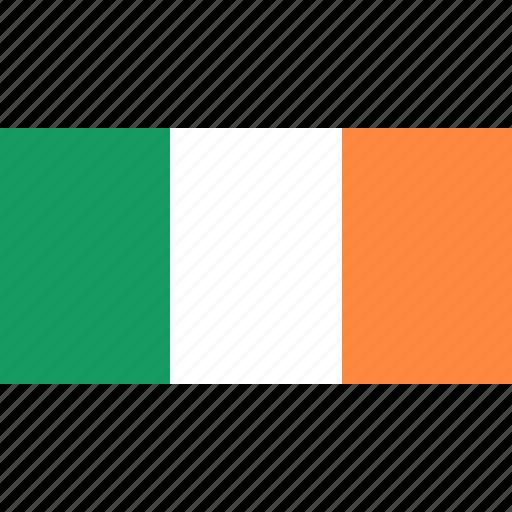 country, europe, flag, ireland icon