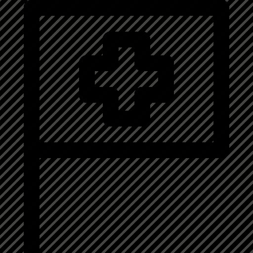country, flag, location, switzerland icon