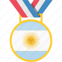 argentina, badge, flag, win icon