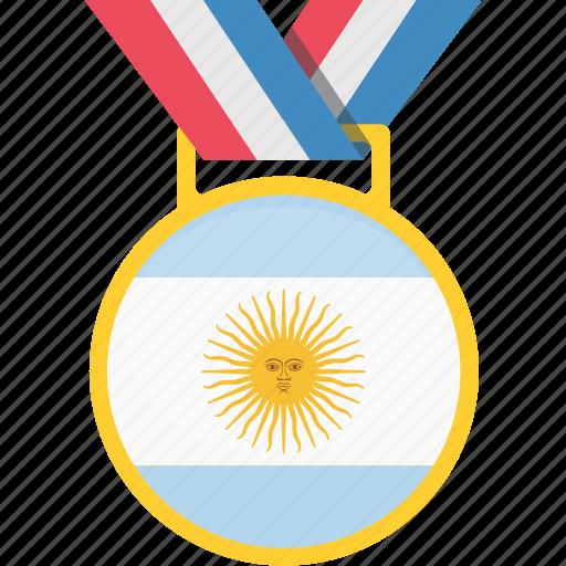 argentina, badge, flag, win icon