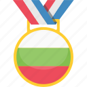achivement, badge, bulgaria, medal icon