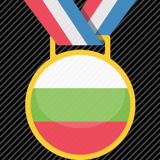 achivement, badge, bulgaria, medal icon