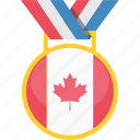 achievement, canada, flag, national, winner icon