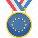 eu, medal, prize, winner icon