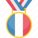 country, flag, france, tournament icon