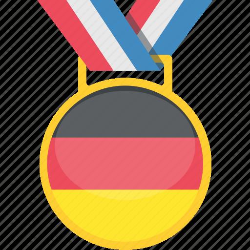 badge, germani, medal, tournament icon