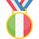competition, italy, medal, prize icon