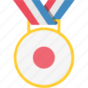 japan, japanese, medal, winner icon