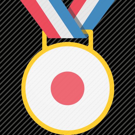 japan, japanese, medal, winner icon