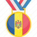 badge, medal, moldova, winner icon